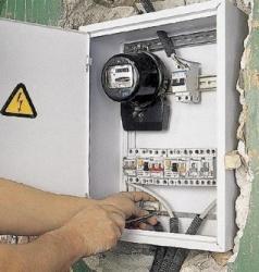 Монтаж электрического щитка.