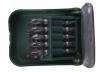 KRAFTOOL Набор  Биты двухсторонние в мобильном бит-боксе с клипсой, Cr-V, 11 шт.