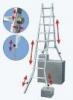 KRAUSE Лестница четырехсекционная шарнирная телескопическая KRAUSE TeleVario 4x4 ступени (122162)