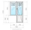 Аспект Блок балконный из металлопластикового профиля Salamander серия 2D 4-16-4