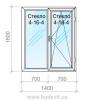 Окно из металлопластикового профиля Salamander серия 2D 4-16-4