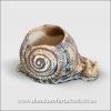 Вазон для цветов из шамотной глины  УЛИТКА