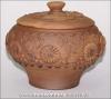 Чугунок глиняный средний без ручек (полулепка)