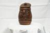 Банка глиняная для хранения с лоском (литье, укр.лепка)