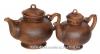"""Чайная пара """"Карачун"""" глиняная (чайник большой 2,3л+ чайник малый 1,5л) (литье, гладкий)"""