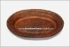Блюдо овальное глиняное (гончарка)