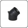 TarnaVva колено металлическое черное 45° регулирующее