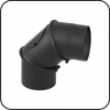TarnaVva колено металлическое черное 90° регулирующие с ревизией диаметр 200мм