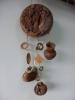 Оберег глиняный - тарелка лепная выгнутая + 3 предмета