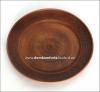 Тарелка глиняная с росписью d=25 см.