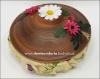 Хлебница круглая с крышкой глиняная с украшением (катанка)
