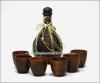 Набор подарочный глиняный (бутылка + 6 рюмок) (гончарка)