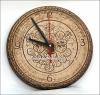 Часы настенные керамические с узором ягоды
