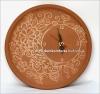 Часы настенные керамические с узором со смещенный циферблатом