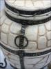 Тандыр из шамотной глины №3-К (ковка) с откидной крышкой и кованным поддувалом