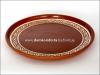 Блюдо d=30 cm., резное, с глазурью, глиняное (катанка)