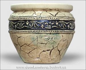 Горшок для цветов из шамотной глины  ГРЕЧЕСКИЙ  средний