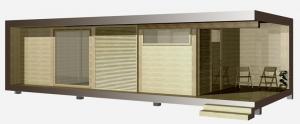 Модульный дом серии «Экран» 1,5м х 52м2.