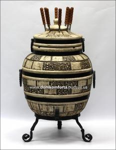 Тандыр  из шамотной глины  №3-С (стандарт)