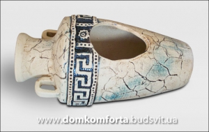 Вазон для цветов из шамотной глины Амфора АФИНА