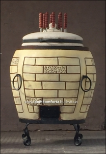 Тандыр из шамотной глины №4-У (утеплённый)