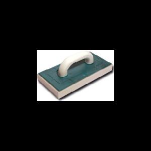 Терка пластиковая с  резиновой губкой для шлифования штукатурки (артикул 3072) 130х270 мм