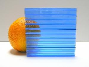 Carboglass Поликарбонат сотовый синий