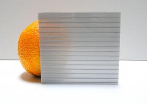 Carboglass Поликарбонат сотовый серебристый