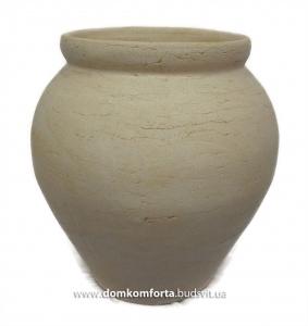 Горшок для цветов из шамотной глины КЛАССИЧЕСКИЙ большой