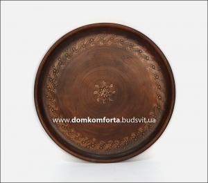 Блюдо d=38 cm., плоское, глиняное (катанка)