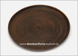 Блюдо d=30 cm., гладкое, глиняное (катанка)