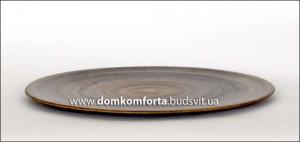 """Блюдо d=33 cm., для пиццы, глиняное """"Челентано"""" (катанка)"""