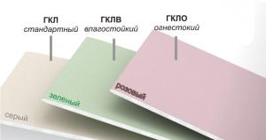 Гипсокартон потолочный 9,5мм 1,2х2,5