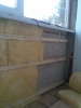 Ремонт балкона. Стекловата на юбке и потолке