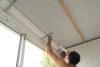 Ремонт балкона. Обработка герметиком