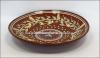 Керамическая глиняная посуда: тарелки из натуральных природных материалов.