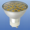 LED GU10 230V 21pcs with cover WW 5050 SMD