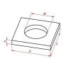 Крышка колодца Астрид 1 ПП 10-2 квадратная