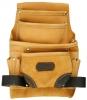KRAFTOOL Сумка  поясная для инструментов, натуральная кожа, 10 карманов