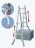 KRAUSE Лестница четырехсекционная шарнирная телескопическая KRAUSE TeleMatic 4x5 ступеней (122322)