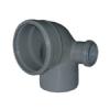 ЕВРОПЛАСТ Отвод канализационный с боковым выходом 110/50/90(правый)