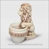 Вазон для цветов из шамотной глины  Лев с вазоном