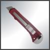 Нож 18мм, сегментированное лезвие, пластиковый корпус, фиксатор