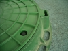 Люк  полимерный для смотровых колодцев (зелёный)