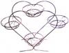 """Подставка для цветов  высокая  """"Сердце - 4"""""""