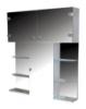 UMT (Украинские Зеркальные Технологии) Шкаф зеркальный  13 ШП 800*920*135 мм