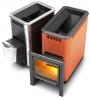 Термофор Классическая дровяная печь-каменка среднего класса ТУНГУСКА 24 Антрацит VITRA со встроенным теплообменником