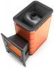 Термофор Дровяная печь-каменка среднего класса АНГАРА 18 Антрацит со встроенным теплообменником