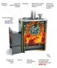 Термофор Дровяная печь-каменка среднего класса АНГАРА 18 Антрацит VITRA 2012