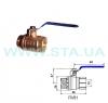 Kран шаровый производство STA вода 15мм ВН управление-рычаг